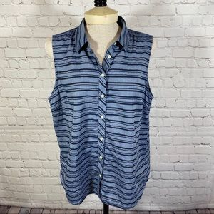 Izod Sleeveless Button Down